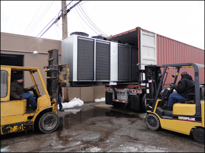 Coolant Chillers : On Site Loading
